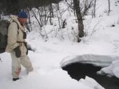 Bilde av passering av vinterbekk. Foto Bjørn Brænd