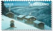 Bilde av jule frimerke,Kjell E Midthun Motiv N Lien