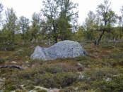 Bilde av Sølnkletten-steinen ved Nyeggsetra. Foto Hans Sollid