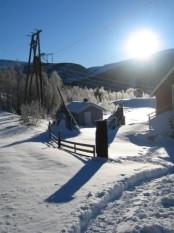 Bilde av sola som kjæm att på Sjøl. Foto Hans Sollid