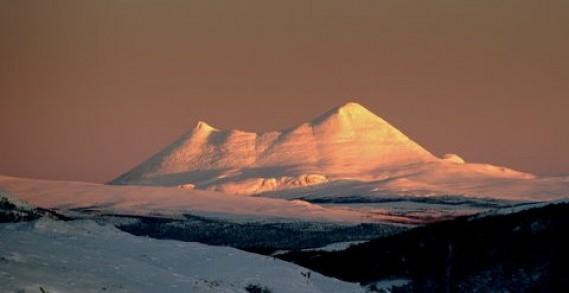 Bilde av Sølnkletten i vintersol. Foto Jo Øvergaard