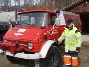 Bilde av ettersyn med brannbil. Foto Hans Sollid