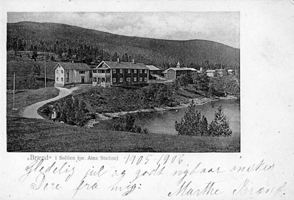 Bilde av Atnfossen mot Nørdre Brænd