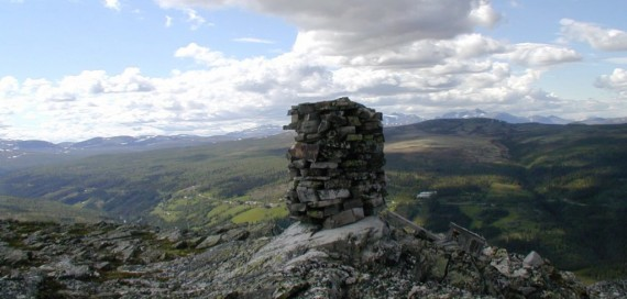 Bilde av  fra Gammelseterkletten mot Øverdalen. Foto Hans Sollid