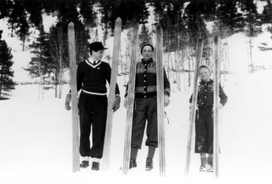 Bilde av Birger Modalen  John Tangen og Sverre Tangen 1938  foto Einar Modalen