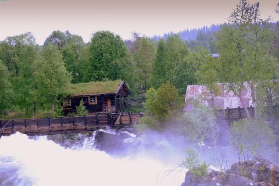 Bilde av Atnfossen,flomdiger foto Jo Øvergaard