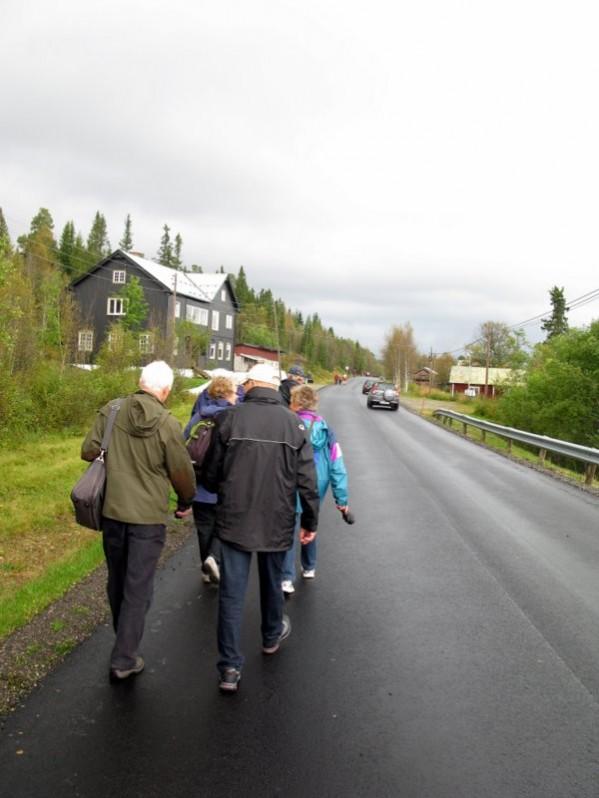 Så gikk turen tilbake til Solvang. Et unektelig uvant trafikkbilde gjennom Øverdalen. Foto Hans Sollid