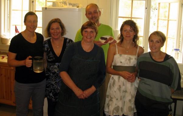 Som vanlig fikk vi mye god mat på Solvang, ikke minst takket være denne gjengen på kjøkkenet. Foto Hans Sollid