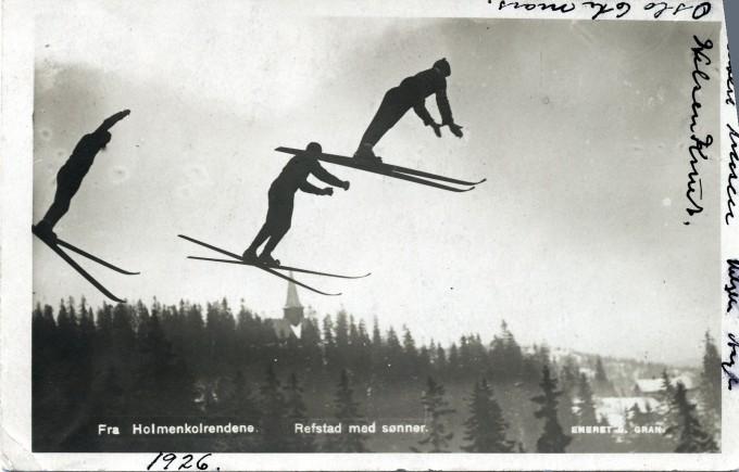 Ill. foto av hoppere i Holmenkollen.
