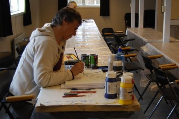 Kristin Vik deltar på Vedic Art-kurs for første gang