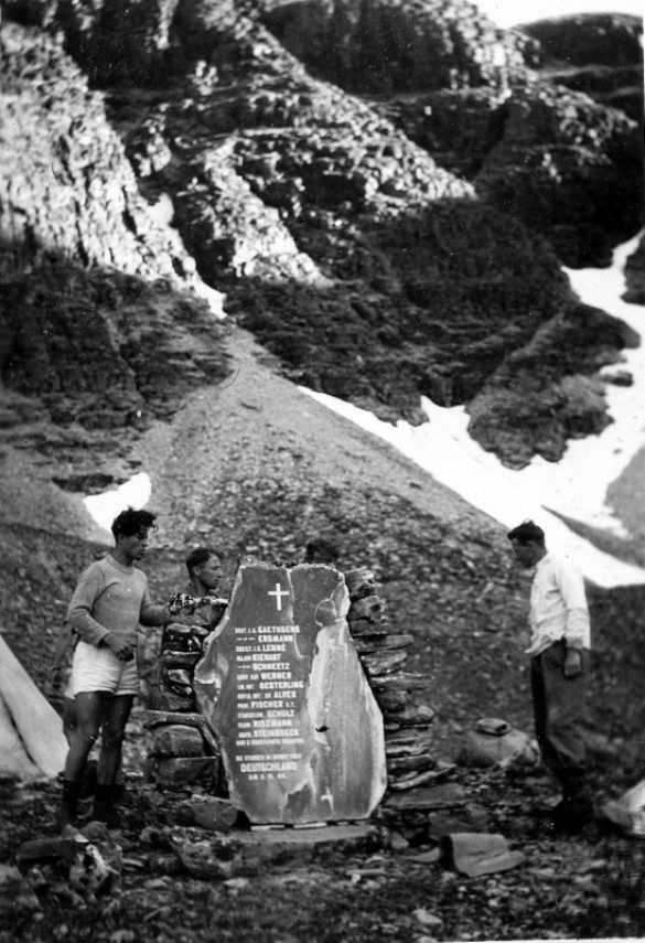 Ved flyvraket  Rondanne august 1945 foto Harald Liberg