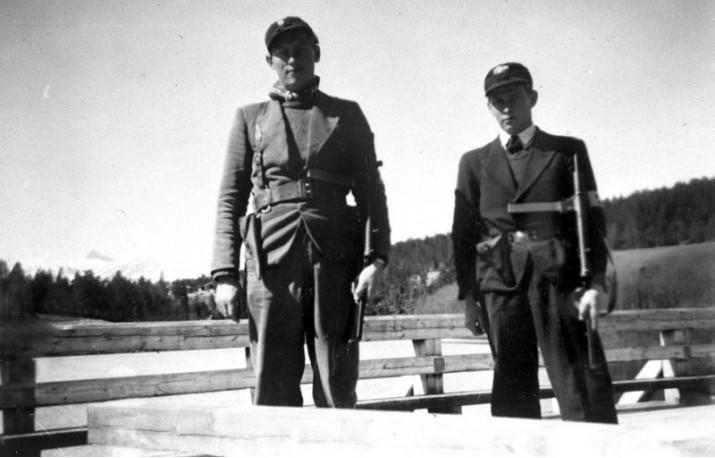 Odd Nesset og Otto Brønd mai 1945