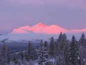 Vintersol over Høgronden. Foto Berit Gomnes