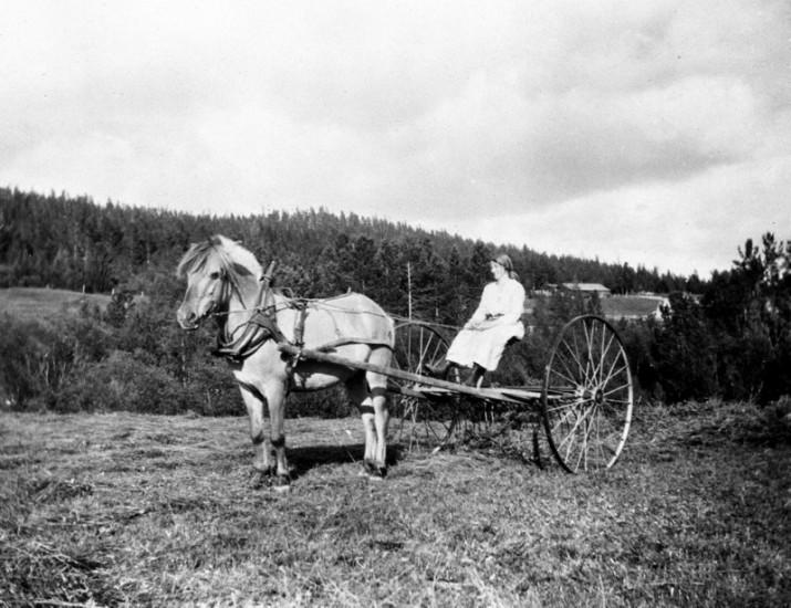 """Marie Øvergaard med """"Vesla"""" 1920"""