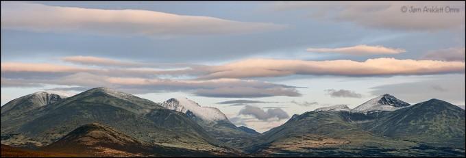 Rondane i november. Foto Jørn Areklett Omre