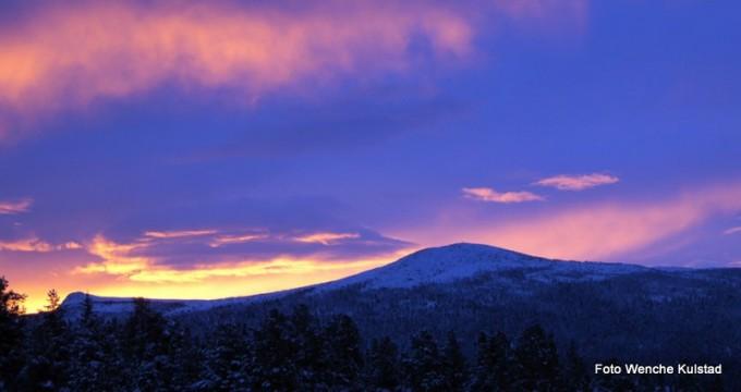 Vintermorgen fra Bakken. Foto Wenche Kulstad
