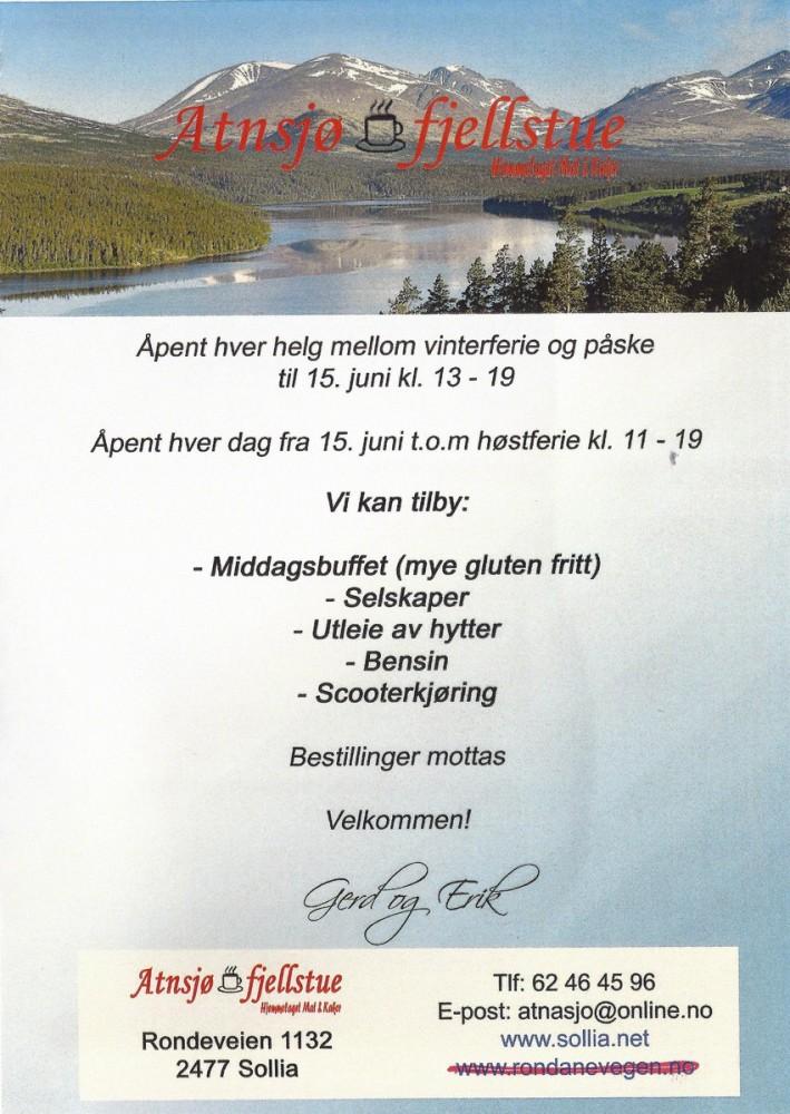 Atnasjø Fjellstue - side 1