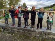 Sollia skole på omvisning på Fossehuset