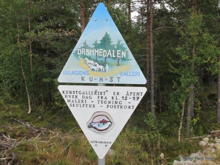Skiltet på Lyngstadvegen