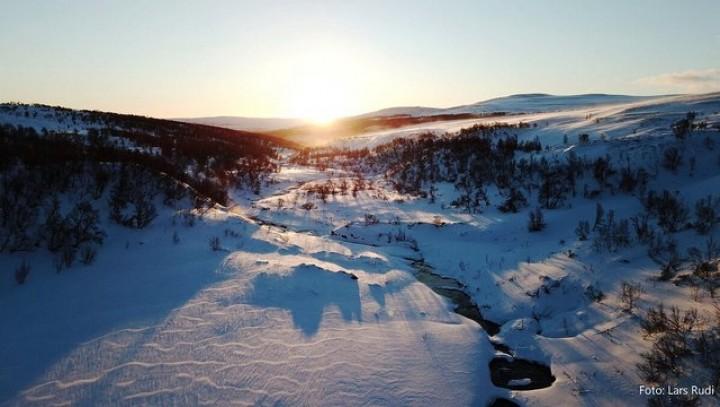 1-19 0317 Soloppgang i Vuludalen Lørdags morgen