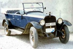 21 0310 Chandler med blå farge 1919-modell